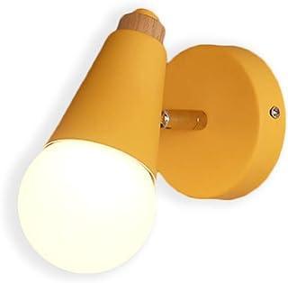 Petite Applique Murale Lampe Murale Mignon Moderne Chic Luminaire Interieur (Jaune)