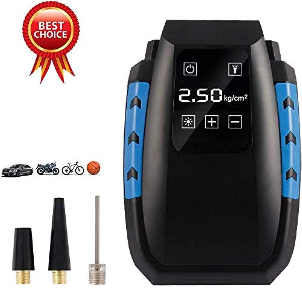 傾向がある魂ゆるい携帯用空気圧縮機ポンプ、車の自転車のための車のタイヤポンプタイヤのインフレーター、LCDデジタル表示装置、LEDの懐中電light、自動遮断