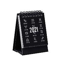 FECHO【2021最新カレンダー】 デスクカレンダー 2021年 ミニ卓上カレンダー 360度ページめくる 時間管理 効率的 折りたたみ式 三角ノートブック ホーム・オフィス・学校 2021贈り物(7.5x9.5cm)