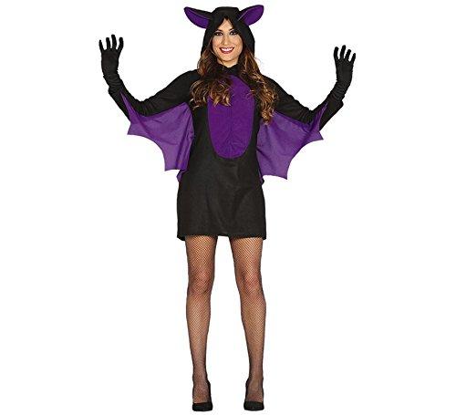 schwarzes sexy Fledermaus Kostüm für Damen Halloween Kleid Horror Gr. S-L, Größe:M