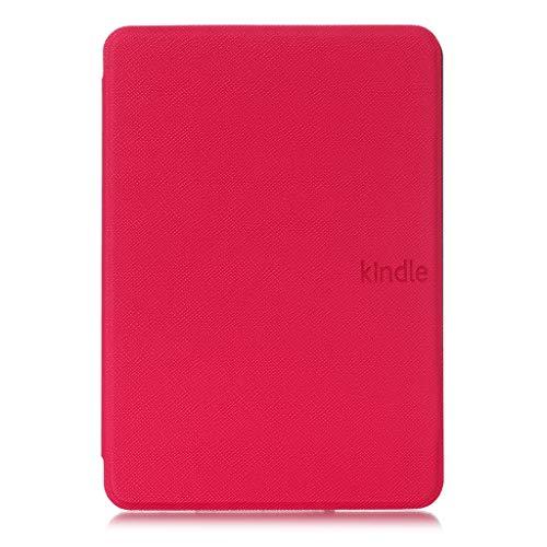 Capa + Pelicula para Novo Kindle Paperwhite (Apenas Versão à prova d'água) Função Hibernação (Pink)