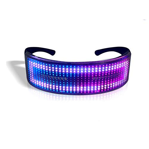 Programmable 80s Cyclops Glasses. Show patterns or messages and personalise using the app. Bluetooth enabled.