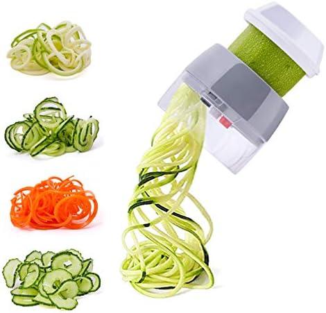 Spiralizer Handheld Vegetable Slicer Nurch 4 in 1 Veggie Spiral Cutter Zucchini Noodle Maker product image