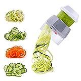 Spiralizer Handheld Vegetable Slicer Nurch 4 in 1 Veggie Spiral Cutter Zucchini Noodle Maker Spaghetti Maker Spiral Slicer Great for Salad