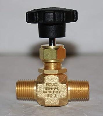 "1/4"" MNPT Brass Needle Valve (3000 PSIG) DK-LOK V15B-M-4N-B from DK-LOK"