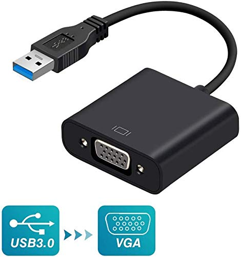 USB to VGA Adapter,KOROMU USB 3.0/2.0 to VGA Adapter Multi-Display Video Converter Compatible with Windows 7/8 / 8.1/10 for Computer,Desktop,Laptop,PC, Monitor,Projector,HDTV[Not Support MAC&Vista]