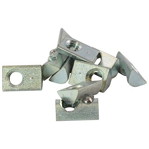 10x Nutenstein 5 St M5 Nut 5 - Typ I - ohne Steg, Federkugel, Stahl verzinkt