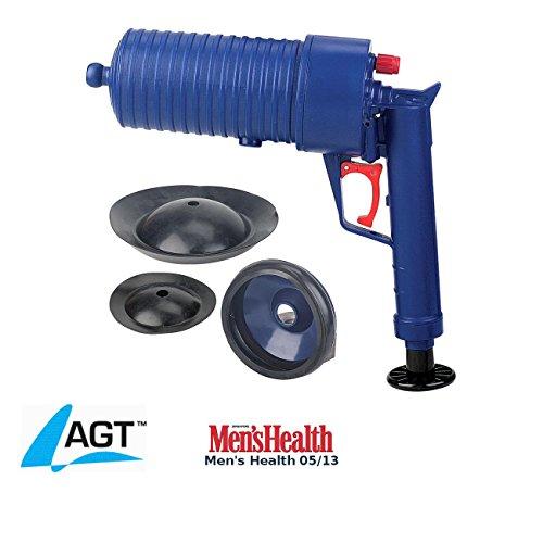 AGT Rohrfrei Pistole: XL-Pressluft-Rohrreiniger mit handlichem Pistolengriff und 4 Aufsätzen (Rohrfrei Druckluft)