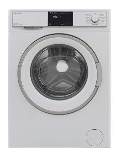 Sharp ES-HFB7164W3-DE Waschmaschine Frontlader / A+++ / 7 kg / 1600 U/min. / 15 Programme / BubbleDrum-Schontrommel / 15 Min. Kurzprogramm / Startzeitvorwahl / AquaStop / Kindersicherung
