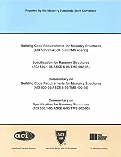 Building Code Requirements for Masonry Structures: Specification for Masonry Structures (Aci 530.1-95/Asce 6-95/Tms 602-95...