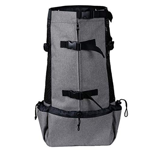 longchun east Pet Carrier Backpack for Small and Medium Dogs, Dog Carrier Backpack Breathable Carrier,Hands Free Adjustable Pet Dog Backpack Carrier for For walking and traveling (Grey)