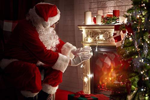 LIZELUO Puzzle 1000 Teile DIY Holz Puzzle Santa Claus, Die Den Kamin Aufwärmt Freizeit Creative Kreuzworträtsel Spiel Kind Puzzle Spielzeug Geburtstag Festival Einzigartiges Geschenk