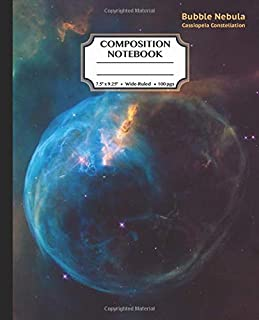 Composition Notebook: Bubble Nebula: Wide Ruled Journal for Boys & Girls, Adults, Students, Teachers, Astronomy & Science ...
