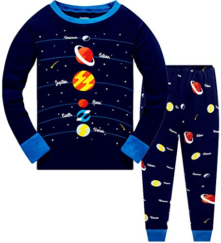Boys Pyjamas Set 100% Cotton Pla...