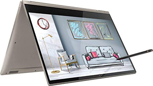 2019 Lenovo Yoga C930 2-in-1 13.9' 4K UHD Touch-Screen Laptop - Intel i7, 16GB DDR4, 512GB PCI-e SSD, 2X Thunderbolt 3, Dolby Atmos Audio, Webcam, WiFi, Windows 10, 3 LBS, 0.6', Mica (Renewed)
