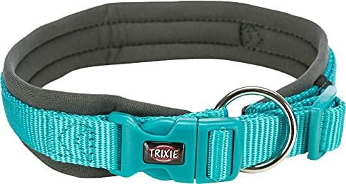 Trixie Collar PREMIUM, acolchado de neopreno, M-L: 42-48 cm/20 mm, ocean/graphite, nylon, collares, cabestros, perros