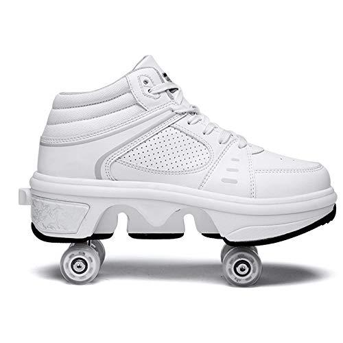 Zjcpow Dytxe deformación Calza los Zapatos de Rodillos Estudiantes de los niños con Luces LED Zapatos de Skate Patinaje Patines de Ruedas por los niños Unisex Deportes xuwuhz (Size : 36)