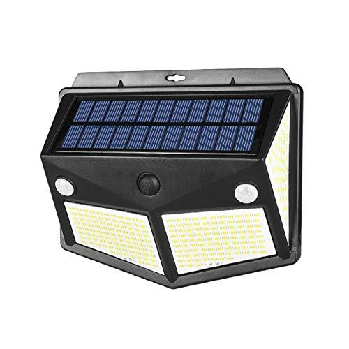 Solarleuchte für Außen Garten Solar-LED-Wandleuchte mit Bewegungssensor Nachtlicht-Funktion 270 ° Weitwinkel Solar Aussenleuchte Wasserdichte Wandleuchte Solarlicht Garten
