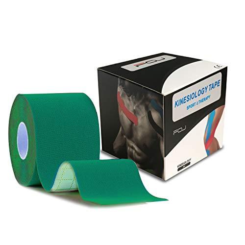 テーピングテープ キネシオ テープ 筋肉・関節をサポート 伸縮性強い 汗に強い パフォーマンスを高める 5cm×5m 1巻入