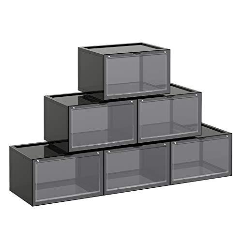 caja zapatos transparente fabricante SONGMICS