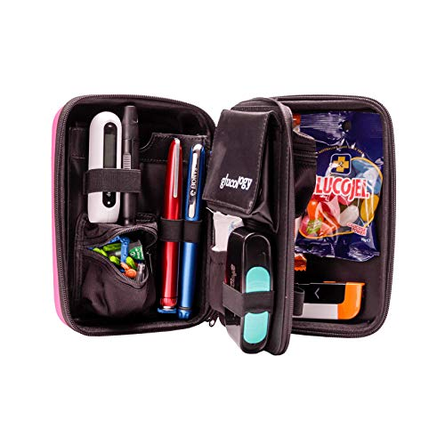 Glucology Diabetic Travel Case - Organizer for Blood Sugar Test Strips, Medication, Glucose Meter, Pills, Tablets, Pens, Insulin Syringes, Needles, Lancets.