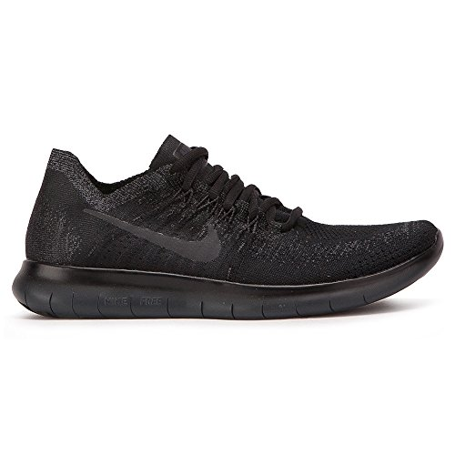 Nike Women's Free RN Flyknit 2017 Running Shoe Black/Anthracite-Anthracite 11.0