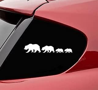bear family car stickers
