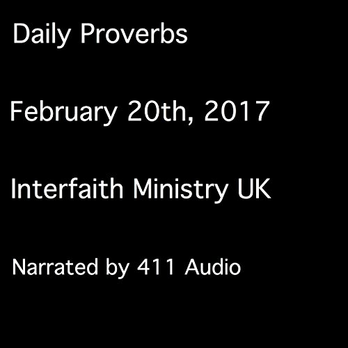 Daily Proverbs, February 20, 2017 audiobook cover art