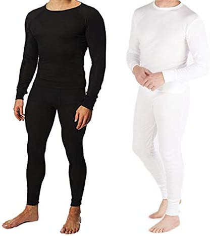 DDI 2326268 Cotton Plus Men's Thermal Underwear Set - White Large Case of 12