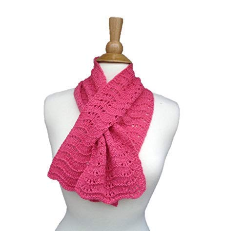 Keyhole Scarf Hand Knit in 100% Baltimore Mall New York Mall W Through Cashmere Style Pull