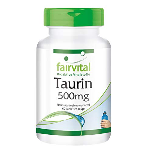 Taurin 500mg - HOCHDOSIERT - VEGAN - 60 Tabletten
