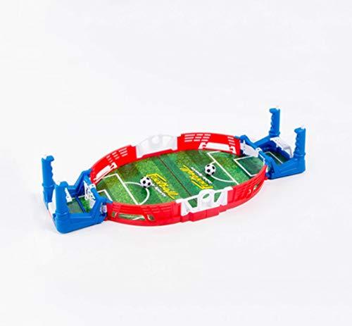 Table Soccer, Desktop mannelijke interactief bordspel, puzzel ouder-kind interactieve tafelvoetbal, Tafelvoetbal, twee spelers volwassen voetbalwedstrijd boven (Color : Blue)