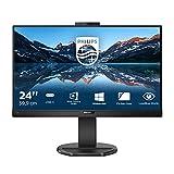 Philips Monitor 243B9H/00-24 FHD, 75Hz, IPS, FlickerFree (1920x1080, 250 CD/m, VESA, D-Sub, HDMI, Displayport 1.2), Negro