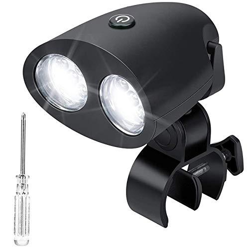Gfhrisyty Luces de Parrilla para Barbacoa, Luz Mejorada para Parrilla con 10 LED, RotacióN de 360 Grados SúPer Brillante, Duradera