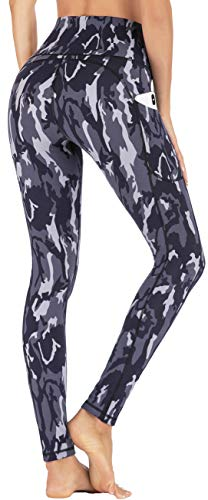 IUGA Leggings with Pockets for Women High Waisted Printed Yoga Pants for Women