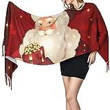 XCNGG Bufanda con flecos de cachemira de imitación chal bufanda larga de moda Unisex Cashmere Scarves Merry Christmas Blanket Wraps Wrap Shawls With Fringe Winter Scarf Shawl For Women