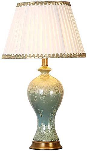 Lamp - decoreren tafellampen koper American Ceramic slaapkamer bedlampje warm Europese stijl woonkamer grote vaas kristallen glazuur keramiek blauw leeslicht lichten foto kleur 6
