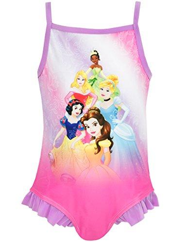 Disney Prinzessen Mädchen Princess Badeanzug, Rosa, 122 (Herstellergröße: 6 - 7 Jahre)