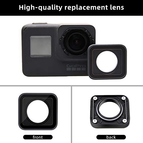 ParaPace Protective Lens Replacement for GoPro Hero 6 5 Black Glass Cover Case Action Camera Accessories Kits(Gray)