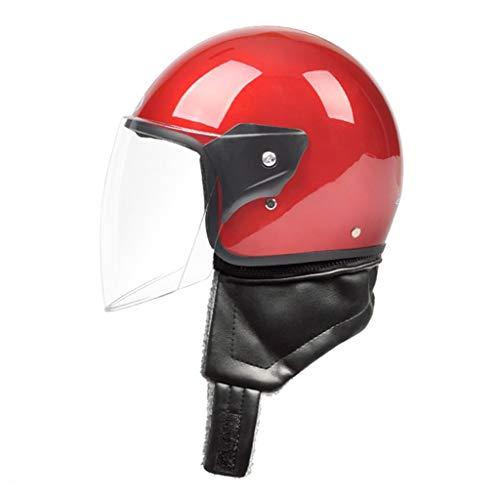 YeMS Elektrische motorhelm, voor mannen en vrouwen, auto, elektrisch, voor alle seizoenen, draagbaar, accu voor fietsen, zonwering, hoed spiegel