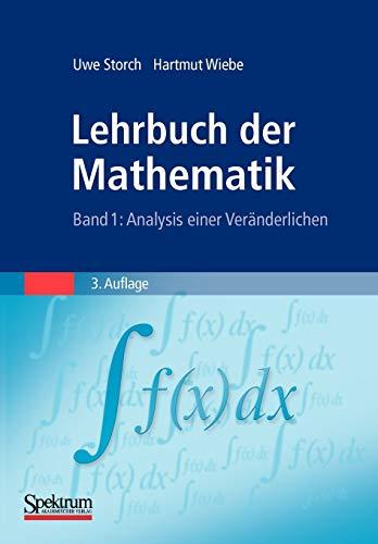 Lehrbuch der Mathematik, Band 1: Analysis einer Veränderlichen