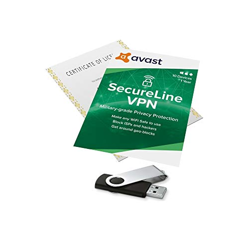 Avast SecureLine VPN - 10 APPAREILS : Version Française en Téléchargement + Sauvegarde sur Clé USB