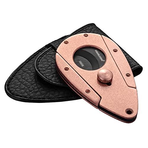 シガーカッターステンレス鋼の旅行の携帯用の両刃の艶消しの箱の包装スライドスイッチ4.3x2.7in