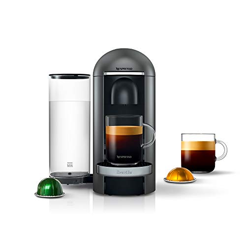 Nespresso VertuoPlus Deluxe Coffee and Espresso Machine by Breville, Titan