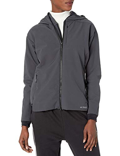 adidas Damen Outdoor Hi-Loft Softshell Jacke, Damen, Isolierte Jacke, Hi-loft Softshell Jacket, carbon, Medium