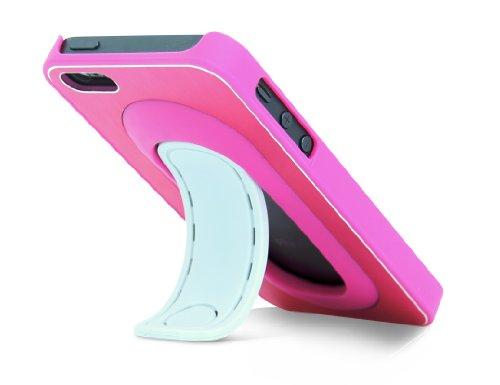 ThumbsUp - Carcasa con soporte para iPhone 5, color rosa