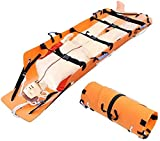 LJXiioo Camilla Tipo Rollo, Camilla portátil de Rescate de Emergencia, Camilla médica multifunción de Primeros Auxilios para montañismo/Fuego/Rescate en Cuevas
