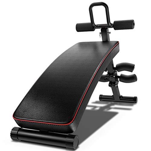 Sit-up board Dispositivo Addominale Multifunzione supina, Gambe di Perdita di Peso Muscolare Fitness Addominale, Rosso Nero