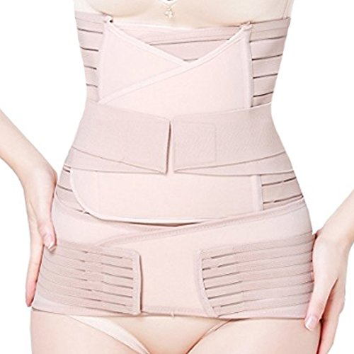 3 en 1 Apoyo posparto Recuperación del Vientre Cintura/Pelvis Corte del Cuerpo Faja Postnatal Shapewear