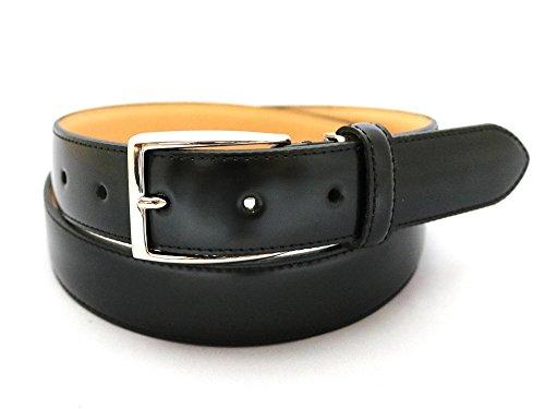 [SADO BELT] コードバン ビジネス ベルト ブラック メンズ 日本製 サイズ調整 高級革 IK6010